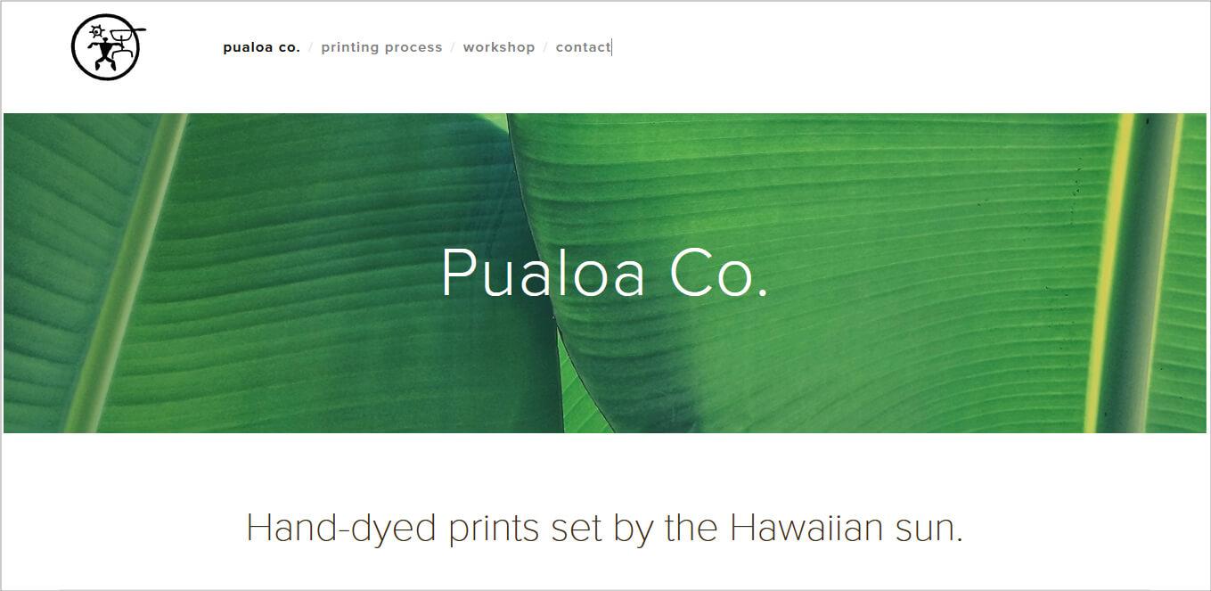 Pualoa Co.公式ホームページ