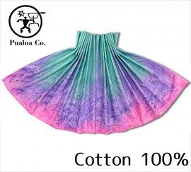 ボーゾー パウスカート ファーン グリーン-パープル-ピンク (Cotton100%)