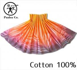 ボーゾー パウスカート パームリーフ オレンジ-ピンク-チャコール(Cotton100%) (Cotton100%)