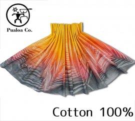 ボーゾー パウスカート パームリーフ イエロー-ピンク-チャコール(Cotton100%)