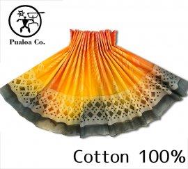 ボーゾー パウスカート タパ×ワナ/オレンジ-チャコール(Cotton100%)