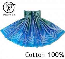 ボーゾー パウスカート リーフ グリーン-ブルー(Cotton100%)