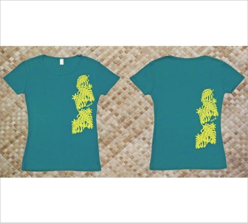 オリジナルTシャツ モンステラ2 アップルグリーン−ライトイエロー