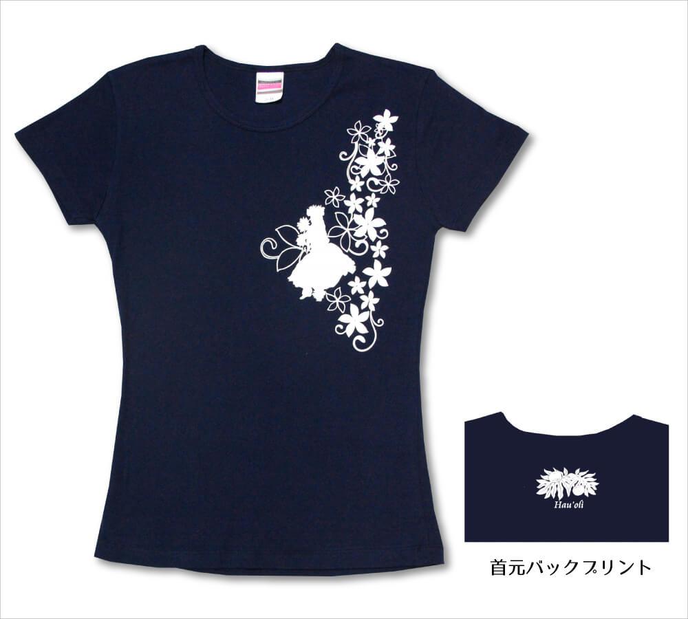オリジナルTシャツ フラガール5 ネイビー−ホワイト