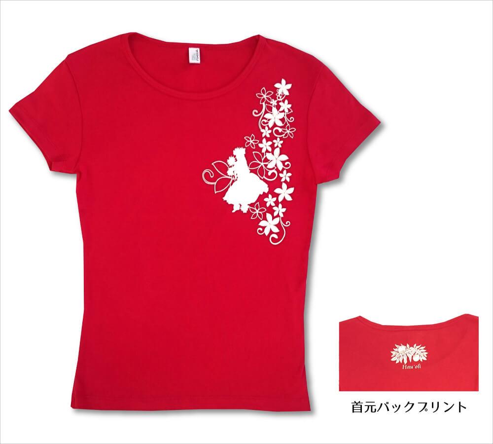 オリジナルTシャツ フラガール5 レッド−ホワイト