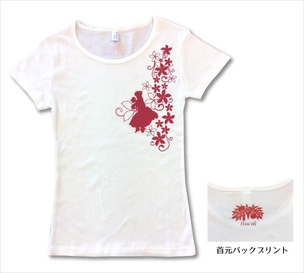 オリジナルTシャツ フラガール5 ホワイト−レッド