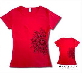 オリジナルTシャツ ラー・リノ レッド−ブラック