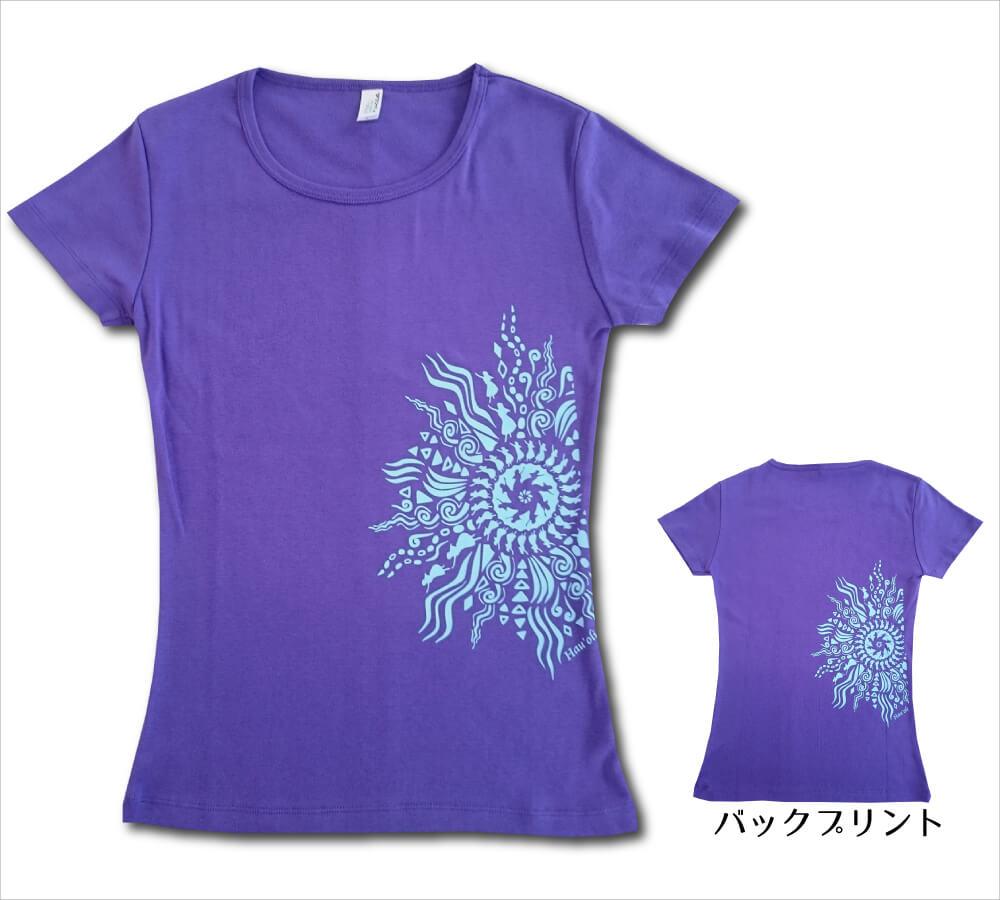 オリジナルTシャツ ラー・リノ バイオレットパープル−ライトブルー