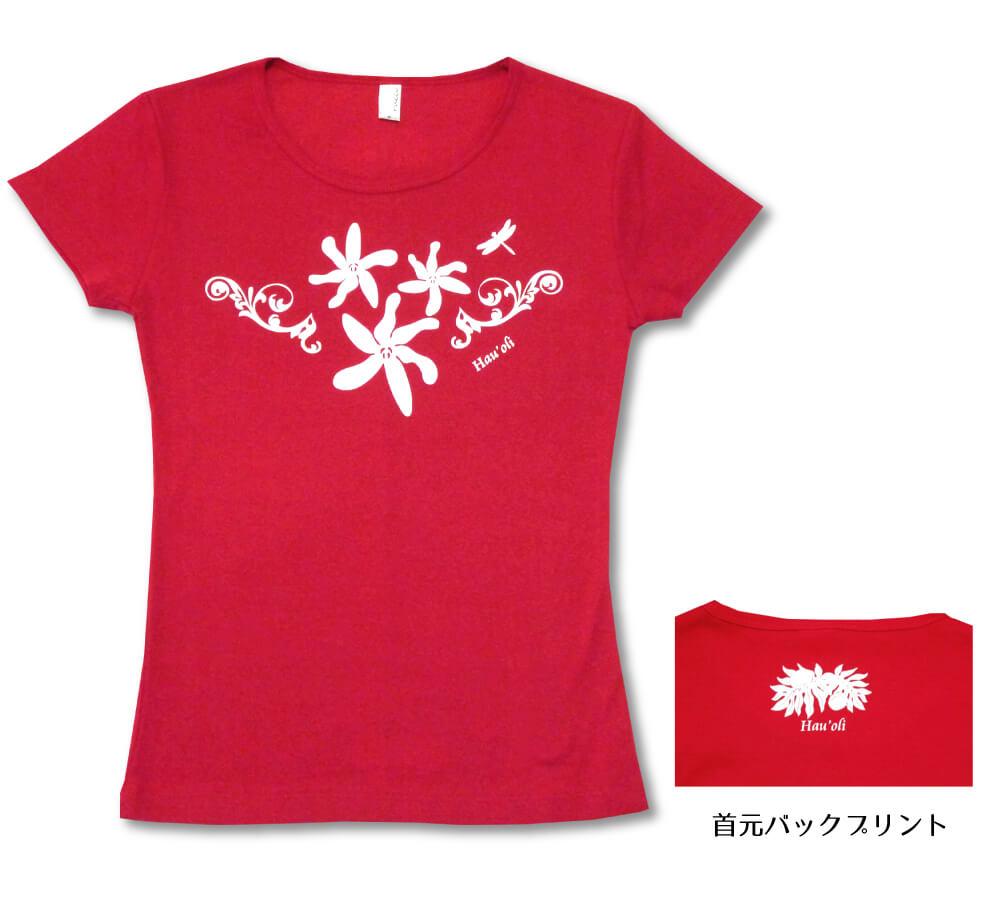 オリジナルTシャツ ティアレ2 レッド−ホワイト