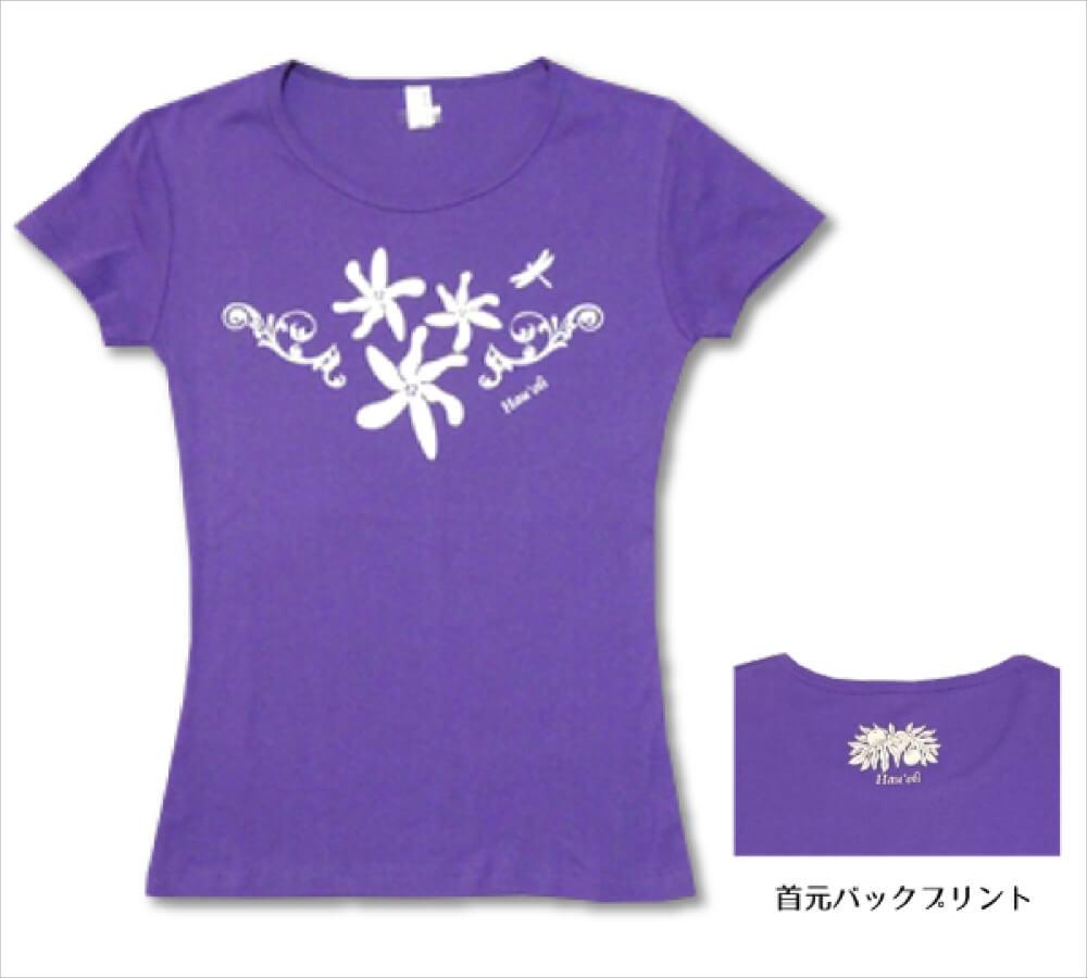 オリジナルTシャツ ティアレ2 バイオレット−ホワイト