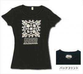 オリジナルTシャツ アイランドフラワー ブラック−オフホワイト