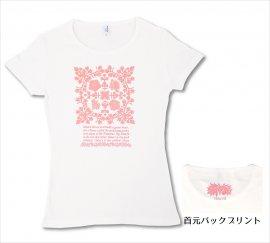 オリジナルTシャツ アイランドフラワー ホワイト-Pピンク