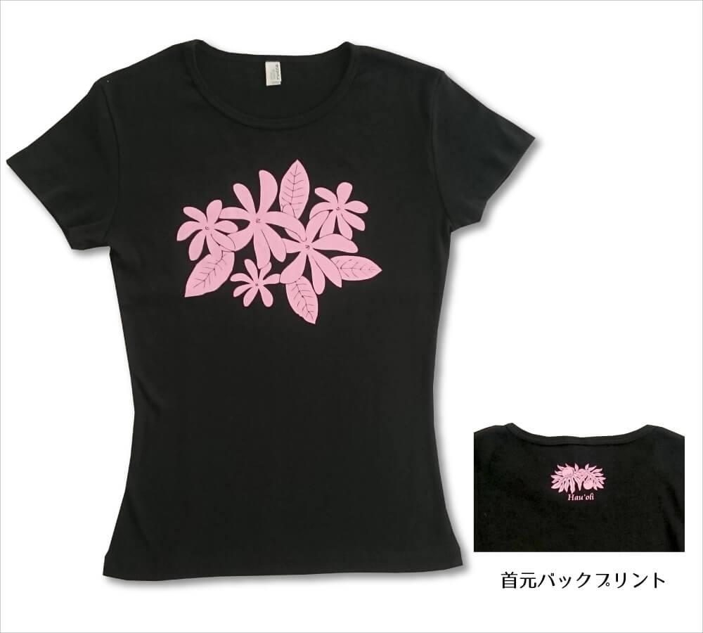 オリジナルTシャツ ティアレ ブラック−ライトピンク