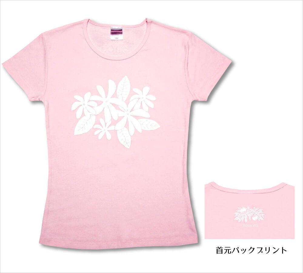 オリジナルTシャツ ティアレ  ベビーピンク−ホワイト