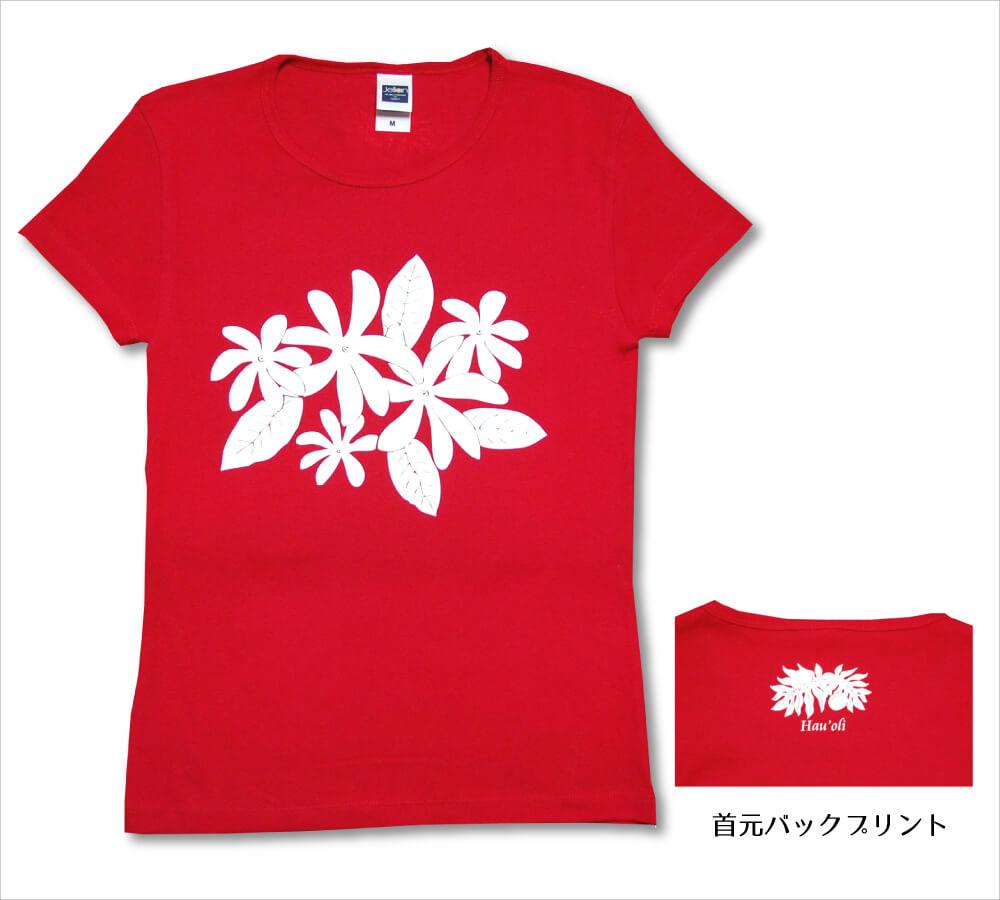 オリジナルTシャツ ティアレ レッド-ホワイト