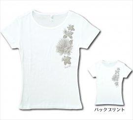オリジナルTシャツ レフア ホワイト-ブラウングレー