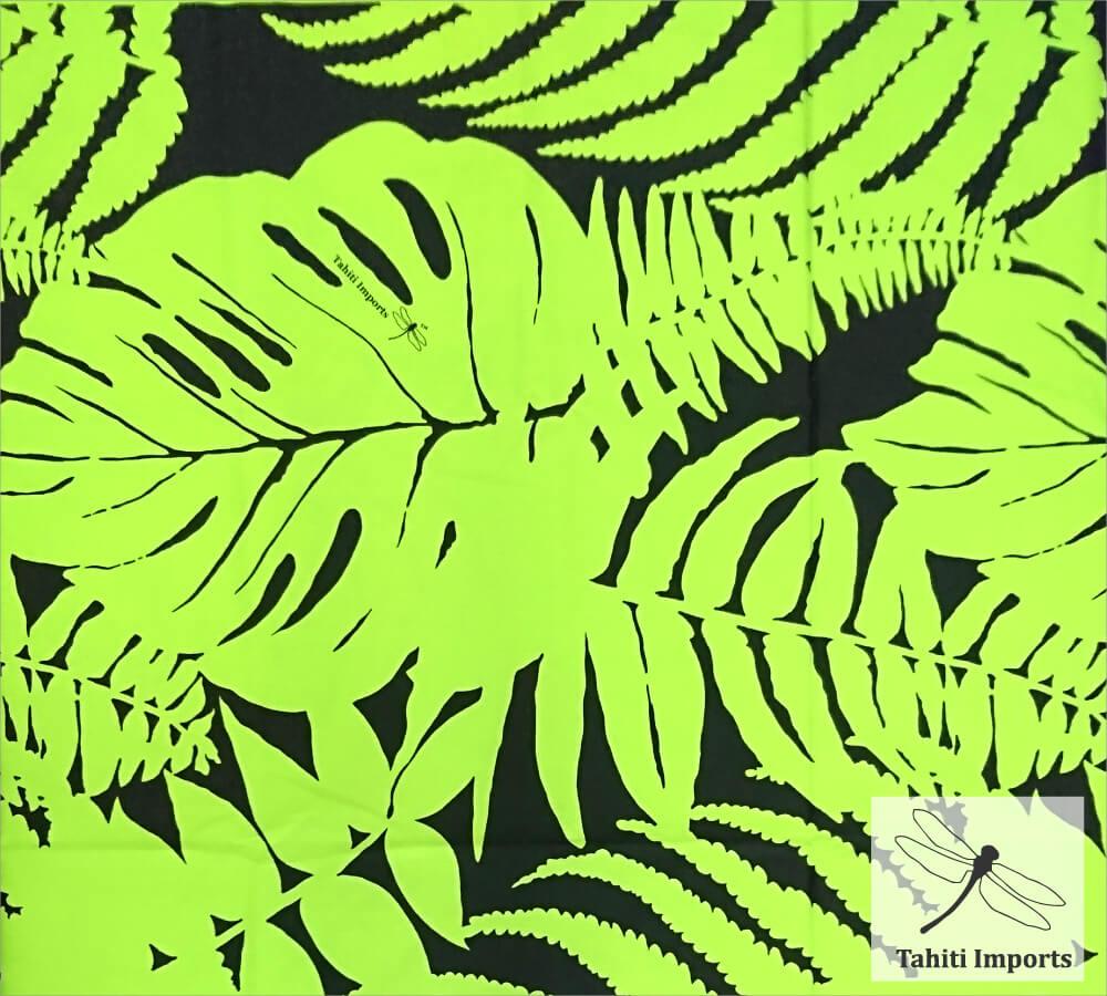 Tahiti Importsファブリック ハプウ シャトルーズ-ブラック