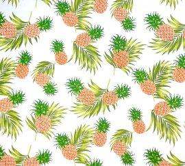 ファブリック パイナップル柄 ホワイト