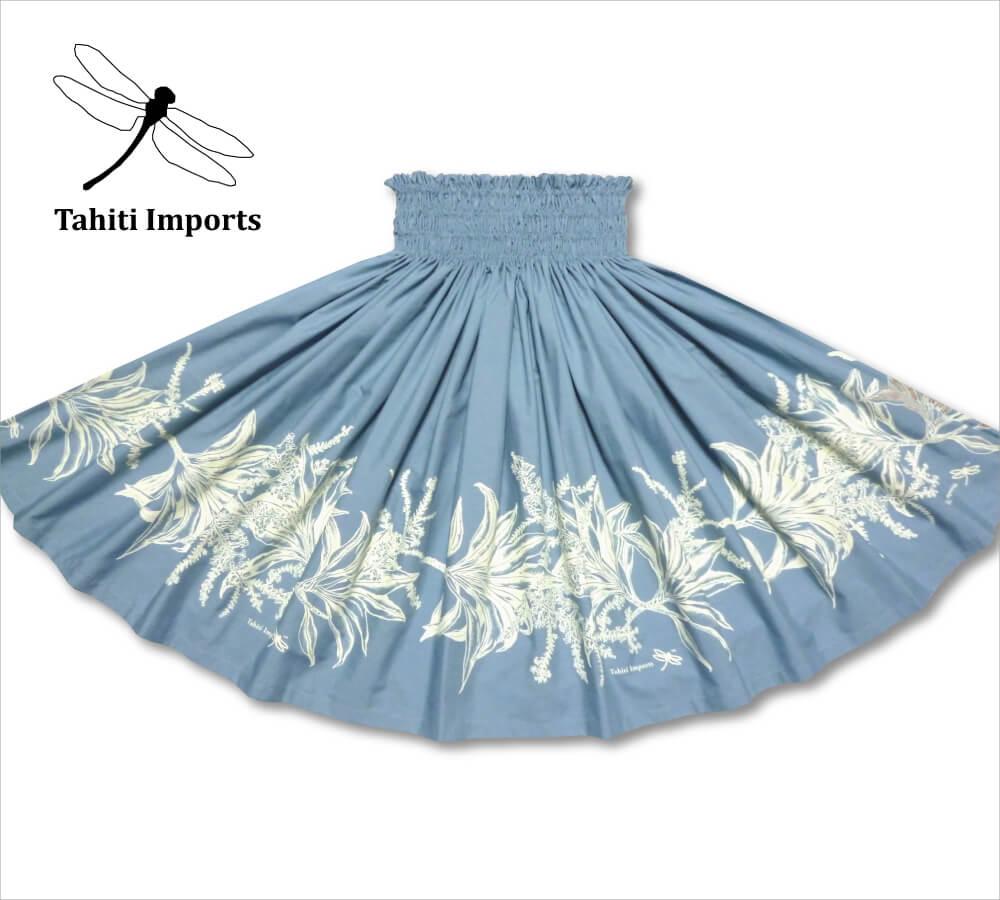 タヒチインポーツパウスカート ティリーフボーダー スレート−クリーム