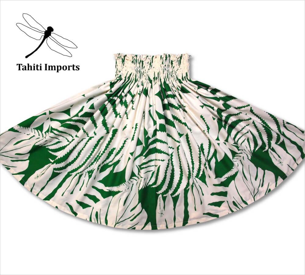 タヒチインポーツ パウスカート ハプウ ナチュラル−グリーン