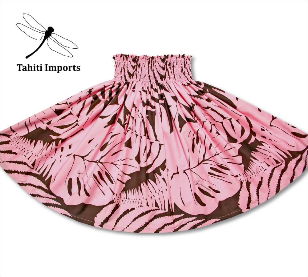 タヒチインポーツ パウスカート ハプウ ピンク−ブラウン