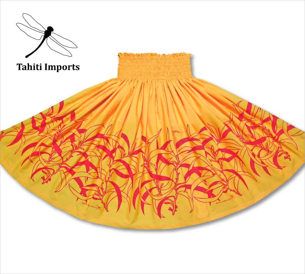 タヒチインポーツパウスカート コアボーダー ブライトイエロー−レッド