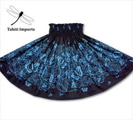 タヒチインポーツパウスカート プレレフア ブラック−ブルー