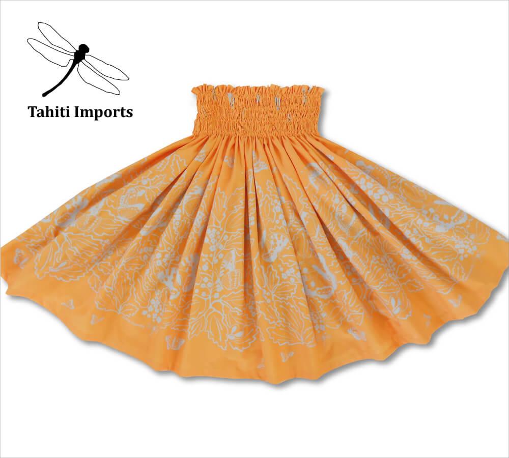 タヒチインポーツパウスカート プレレフア キャロット-グレイ