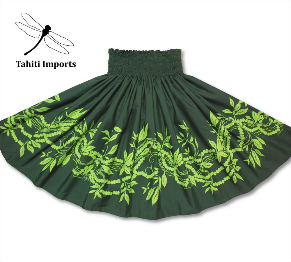 タヒチインポーツパウスカート モキハナボーダー モスグリーン−シャトルーズ