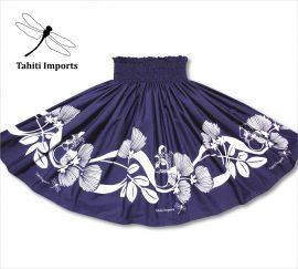 タヒチインポーツパウスカート チャンター インディゴ−ホワイト