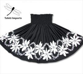 タヒチインポーツパウスカート レイティアレボーダー ブラック−ホワイト
