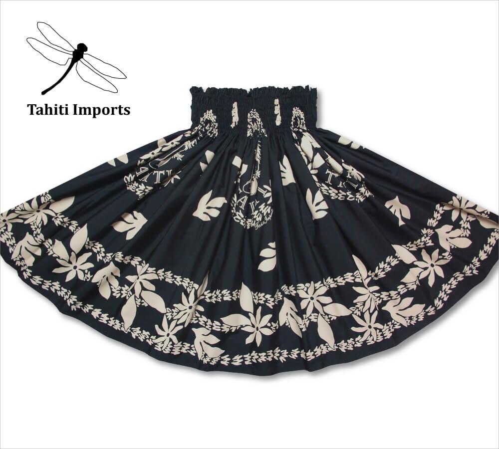 タヒチインポーツ パウスカート ティアレタヒチ ブラック−タン